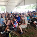 The crowd shows their appreciation for the University of Hawaii performers at the Smithsonian Folklife Festival stage.