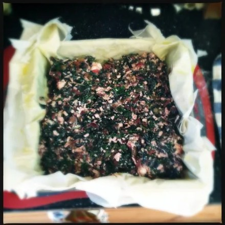 Another herb pie from #TastingJrslm.  Assembly 1