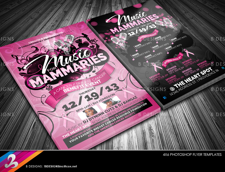 Cancer Benefit Flyer Templates DOWNLOAD FULLY LAYERED ( 2-\u2026 Flickr