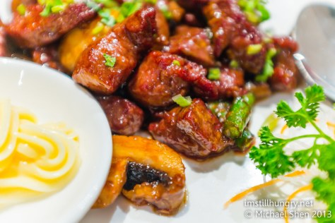 Wasabi beef iron chef
