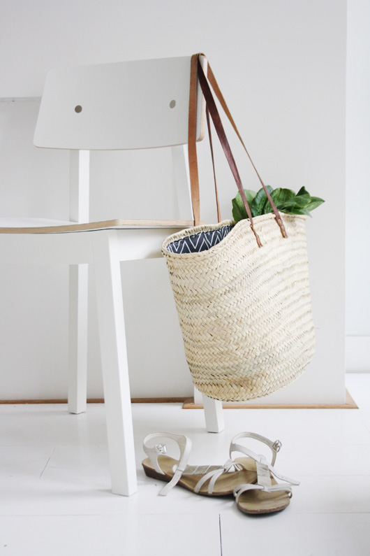 Easy DIY: Lined Wicker Market Tote
