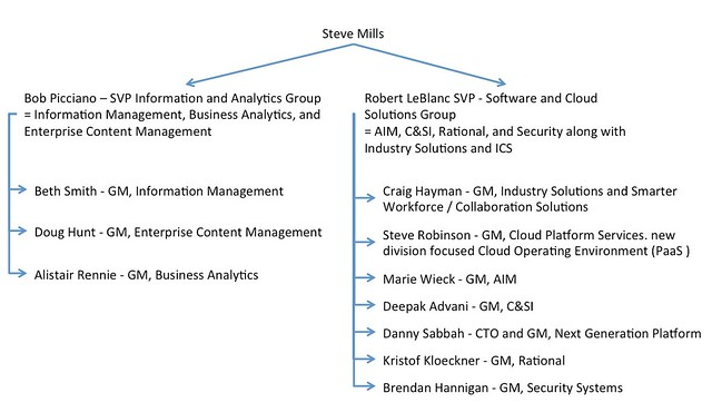 In The Next Version - IBM Software Group Organization Chart Jan 2014 - ics organizational chart