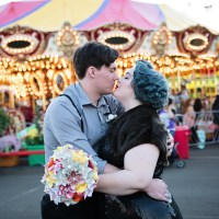 "Rachel & Jake's ""Water for Elephants"" state fair wedding"