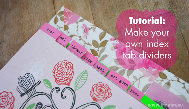 DIY Calendar Idea Make Your Own Index Tabs iHanna\u0027s Blog