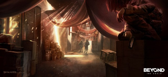 Beyond: Two Souls concept art created by François Baranger for Quantic Dream