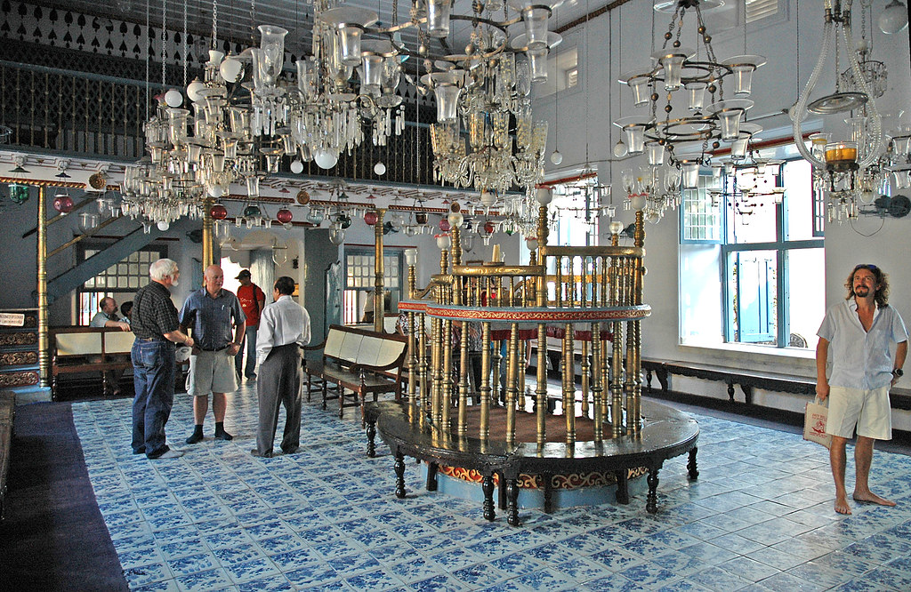 Inside the beautiful Paradesi Synagogue, Jew Town