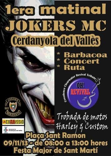 1ª Matinal Jokers MC - Cerdanyola del Valles
