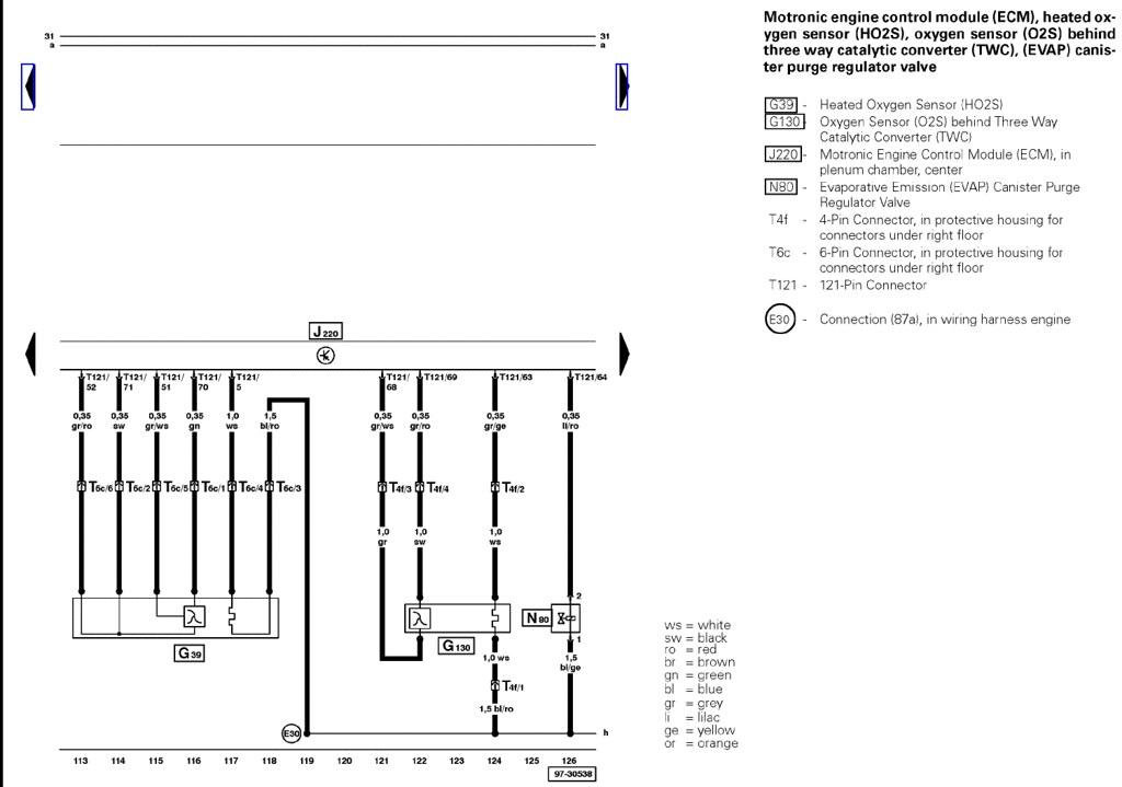 vw o2 sensor wiring diagram