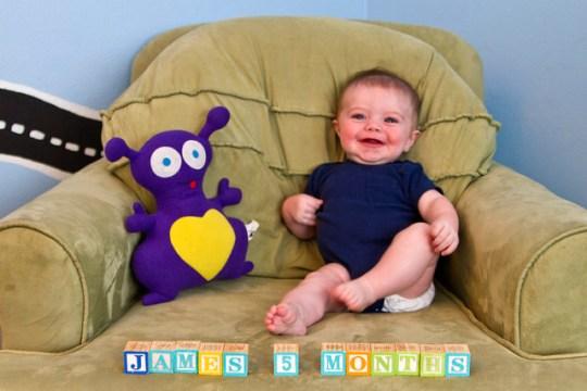 James, month five