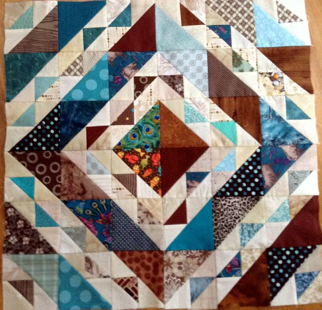 Quilt Blocks Brown & Teal King Size Quilt | Flickr - Photo Sharing!