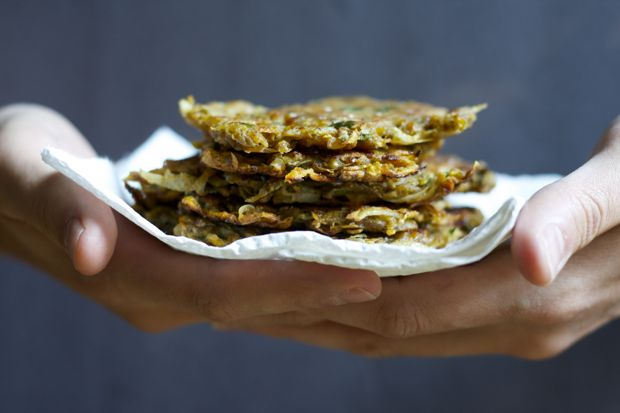 Sweet Potato and Potato Pancakes / FoodLovesWriting.com