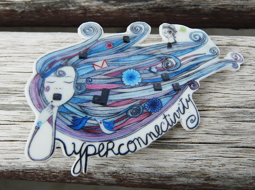 Broche Hyperconnectivity azul