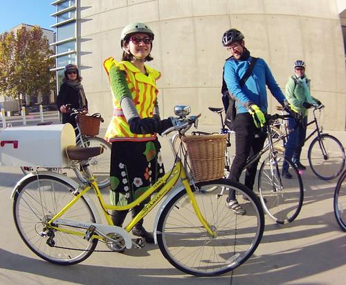 San Fernando green lane bikeway ribbon cutting