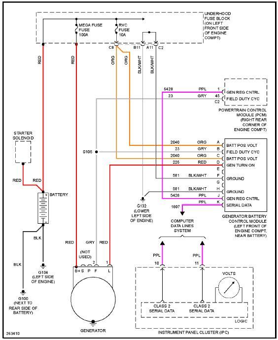 alternator wiring harness diagram ? - Chevrolet Colorado  GMC