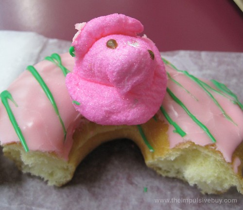 Dunkin' Donuts Peeps Donut Peep protects its territory