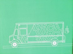 Wall detail | The Juice Truck Store Front