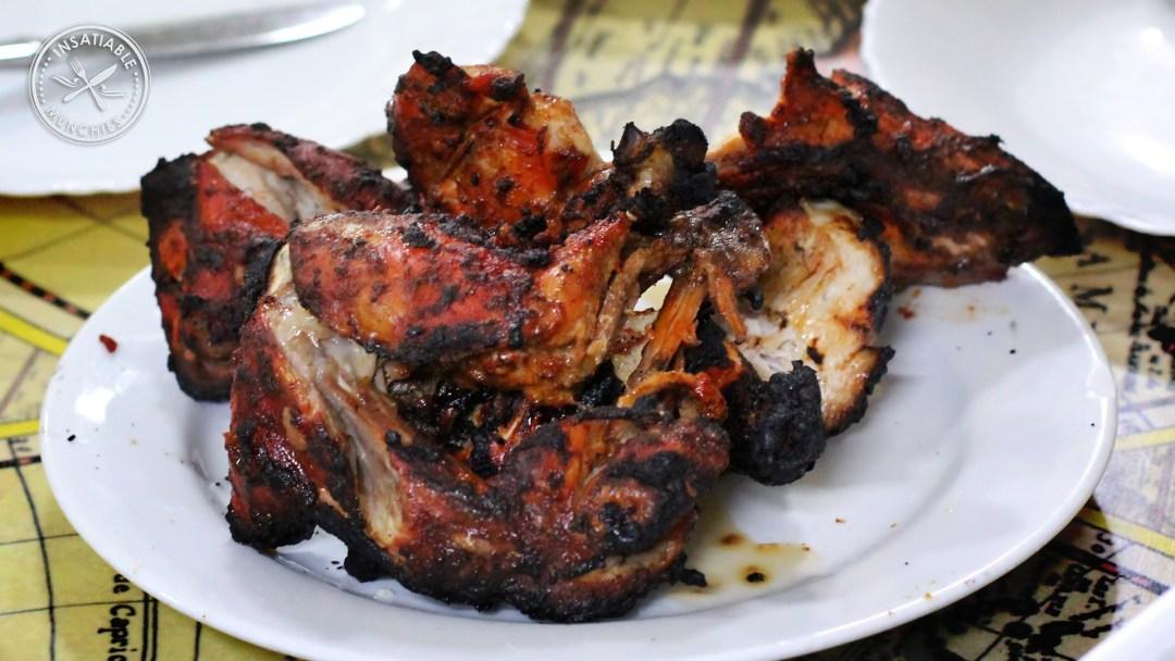 A full serving of tandoori chicken