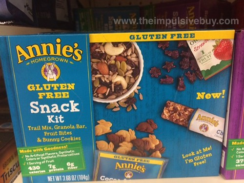 Annie's Trail Mix, Granola Bar, Fruit Bites, and Bunny Cookies Snack Kit
