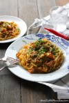 This recipe takes the sauce of Singapore Chilli crab, adds it to chunky alaskan crab meat, and mixes it in with pasta for a hearty and satisfying meal.