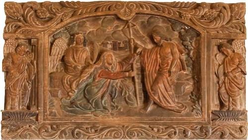 Father Burgos Museum wood carvings display