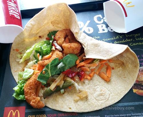 McDonald's Asian Crispy Shimp Signature McWrap 3