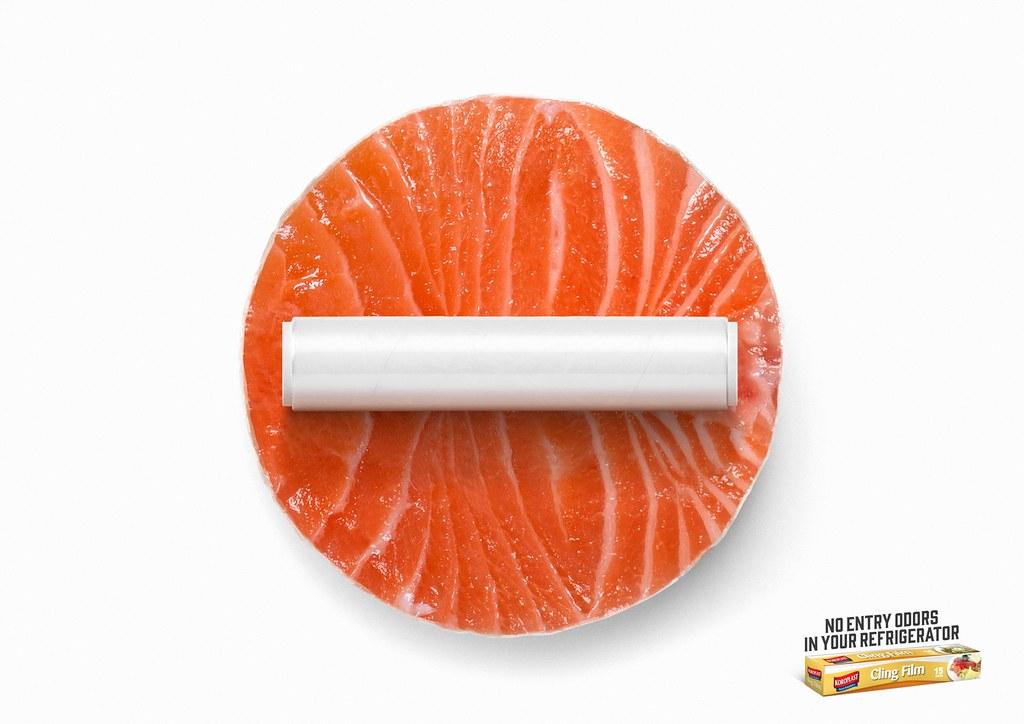 Koroplast Cling Film- No Entry Salmon