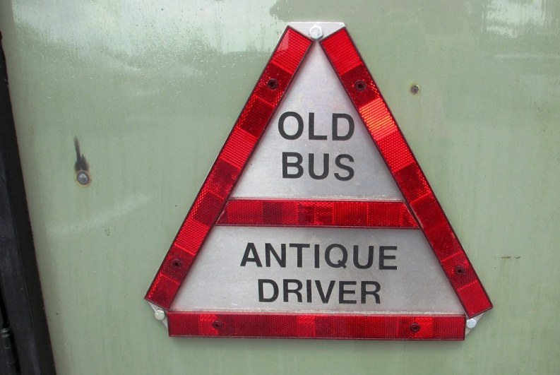 """Old Bus. Antique Driver."" Aug. 2, 2014"