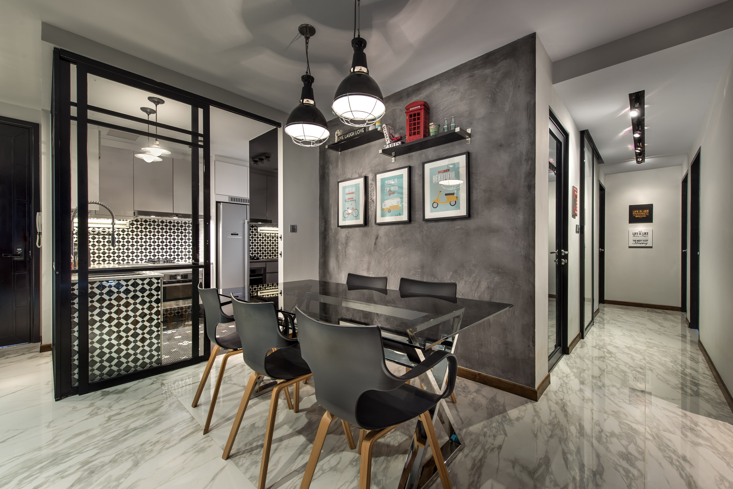 Industrial Chic Decorating Ideas 3 Bedroom Industrial Chic Tanglin View