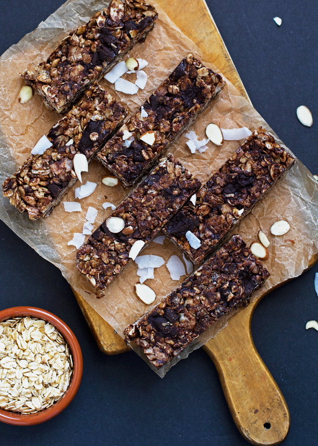 Almond Joy Coconut Chocolate Granola Bars Recipe | Little Spice Jar