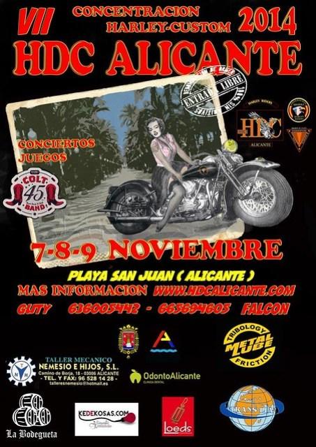 VII Concentración Harley Custom - Playa San Juan (Alicante)
