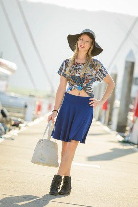 Skate Skirt and Pretty Bird Top