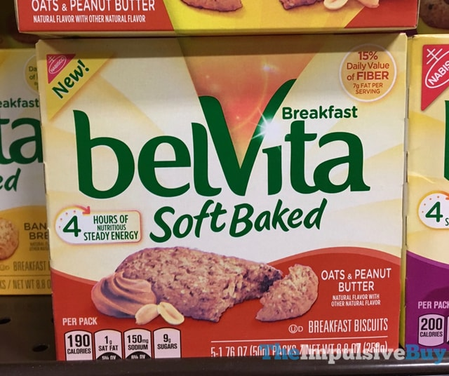 Nabisco Oats & Peanut Butter belVita Soft Baked Breakfast Biscuits