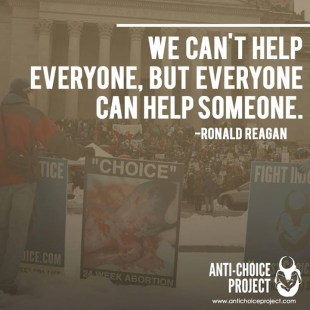 """We can't help everyone, but everyone can help someone"" - Ronald Reagan"