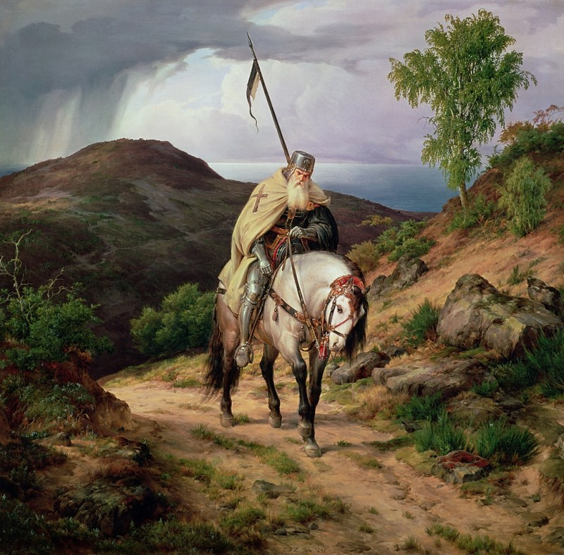 The Return of the Crusader by Karl Friedrich Lessing, 1835