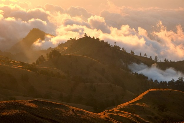 Above the clouds. Rinjani