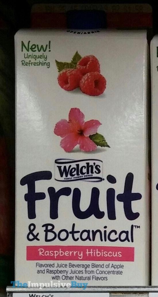 Welch's Fruit & Botanical Raspberry Hibiscus