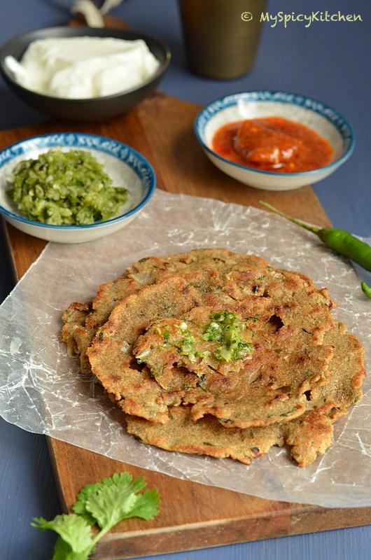 Thalipeeth, Savory pancake, Maharashtrian Food, Maharashtrian Cuisine, Blogging Marathon, Indian Food, Buffet on Table