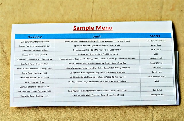 Kids Recipes List - Lunch box Ideas, Breakfast - Indian,Vegetarian