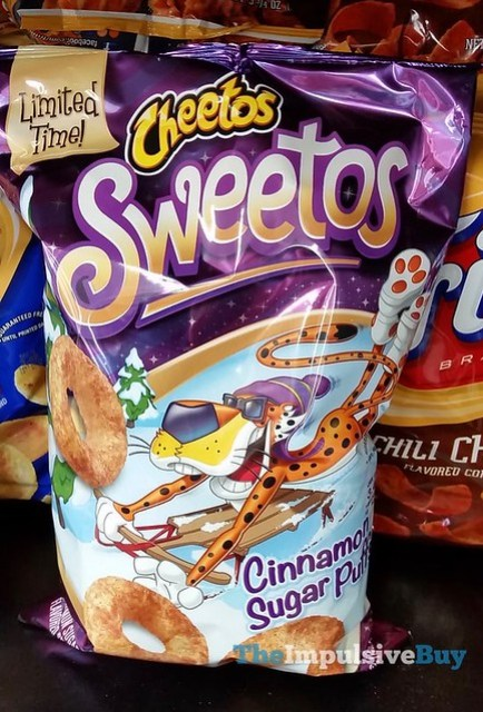 Limited Time Cheetos Sweetos Cinnamon Sugar Puffs