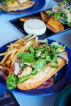 Fried Oyster and Smoked Duck Po' Boy, $16 , Miss Peaches, Newtown. Sydney Food Blog Review