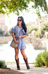 Chambray Dress + Cowboy Boots - cute & little | Dallas ...