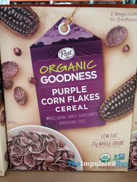 Post Organic Goodness Purple Corn Flakes Cereal