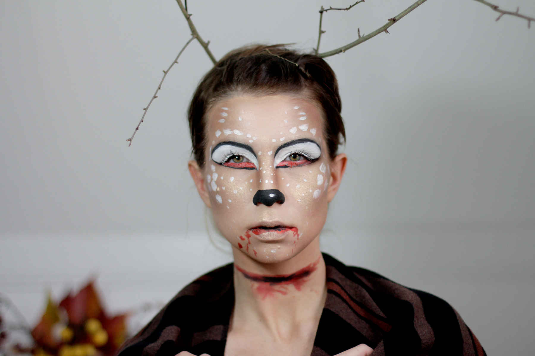 Halloween Make Up Anleitung Oh Deer Halloween Make Up Tutorial Cats And Dogs