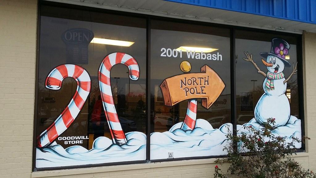 Holiday Window Painting \u2013 Goodwill Industries \u2013 Free Sky Studios