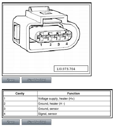 Audi O2 Sensor Wiring - Wiring Data Diagram