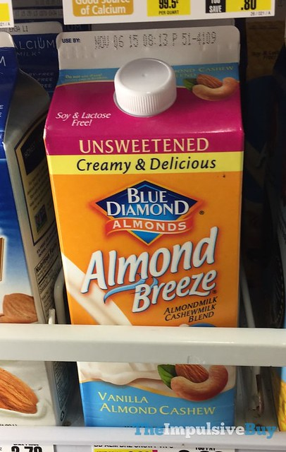 Blue Diamond Almond Breeze Unsweetened Vanilla Almost Cashew Milk
