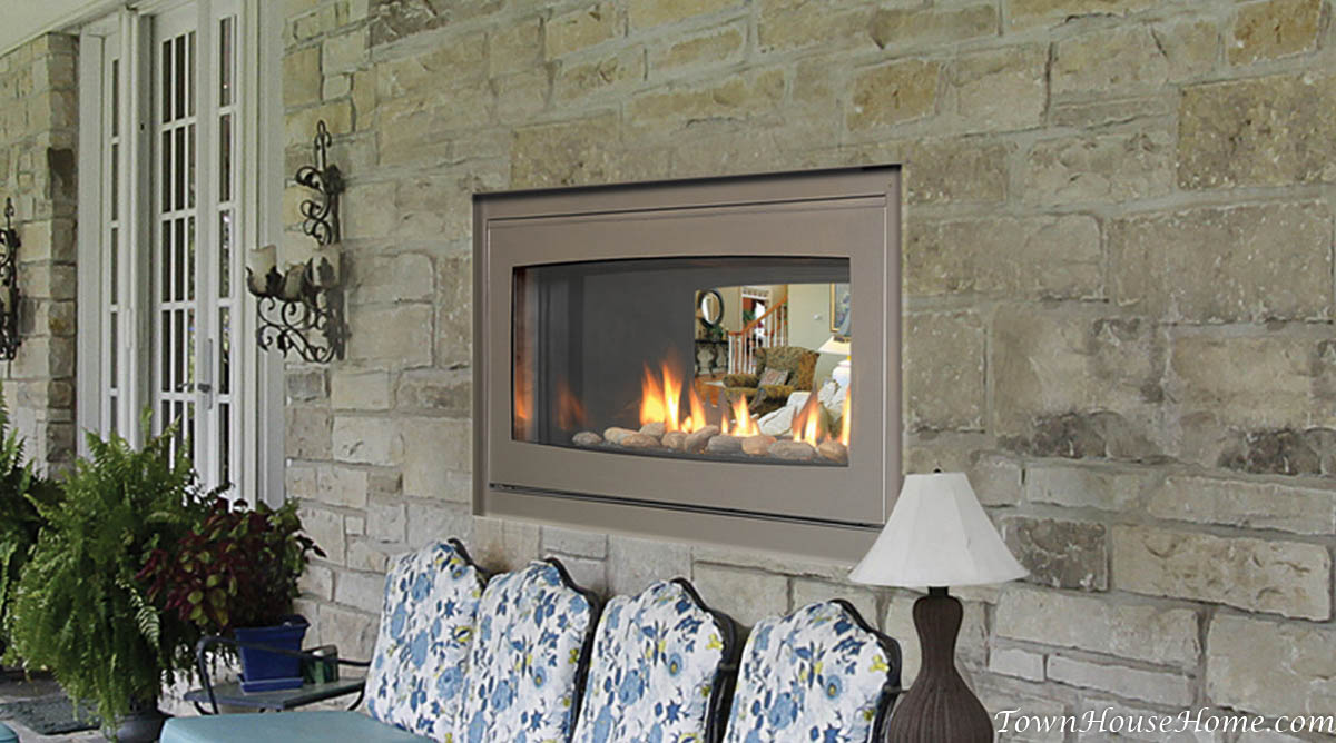Double Sided Gas Fireplace Indoor Outdoor | Home Decorating Ideas ...