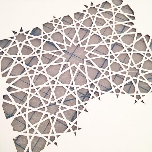 Work in progress - pattern paper cut