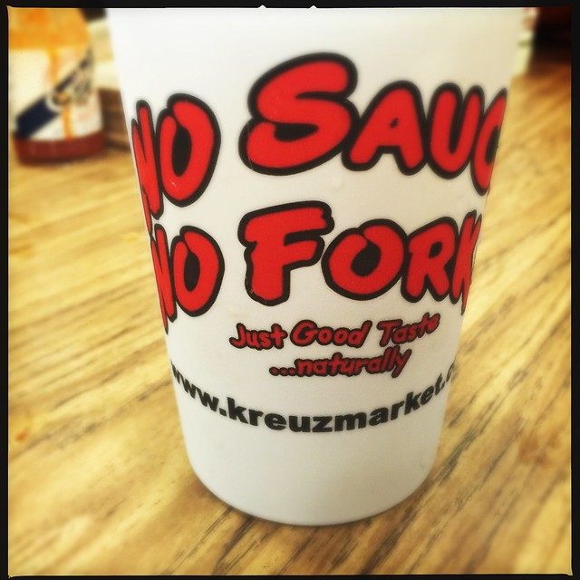 No Sauce. No Fork. Kreuz Market #bbq #Lockhart