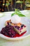 Berry Tart with berry Compote and cinnamon ice cream, $12: The Vic on the Park, Marrickville. Sydney Food Blog Review